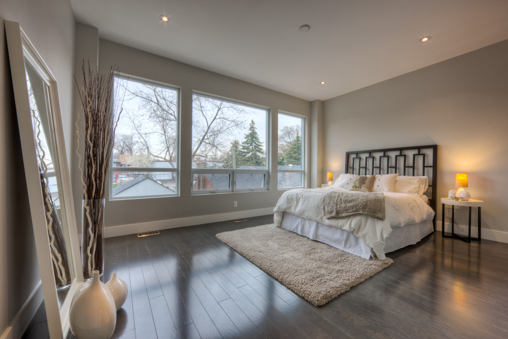 new home staging bedroom