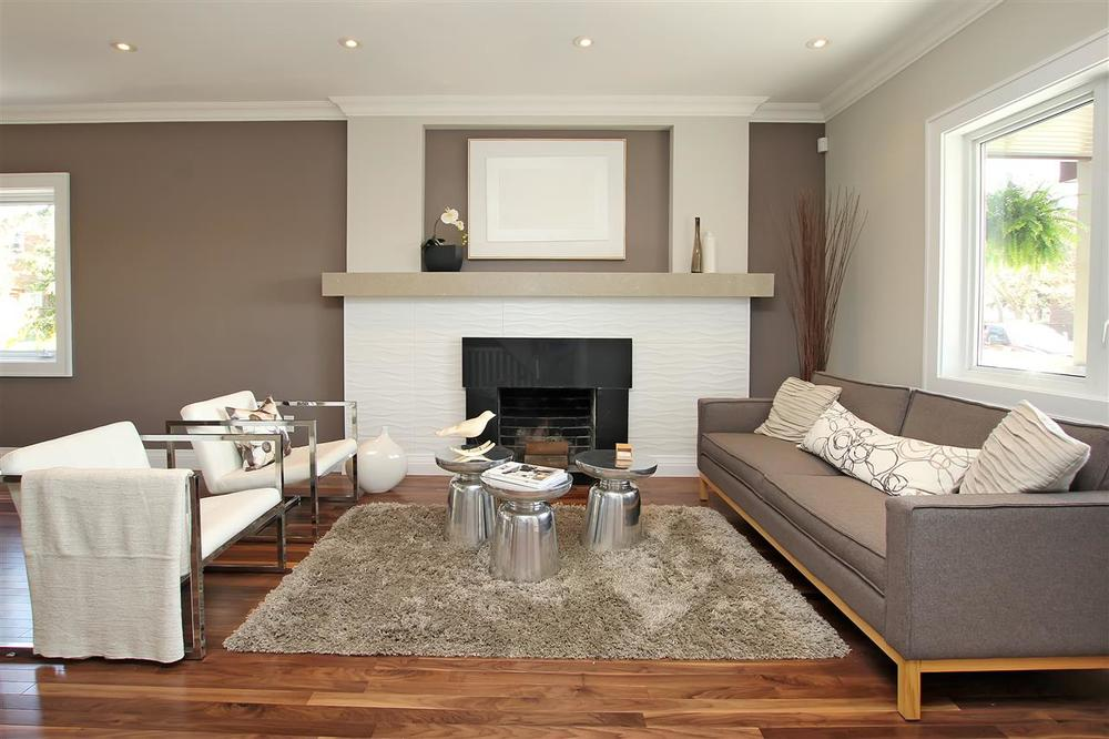 occupied home staging - living room