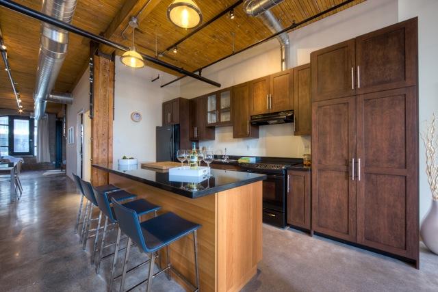 Occupied condo staging - kitchen