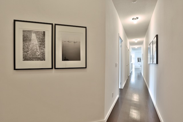 Long hallways are a great opportunity to showcase your art collection.  Listing Realtor: Chris Bibby