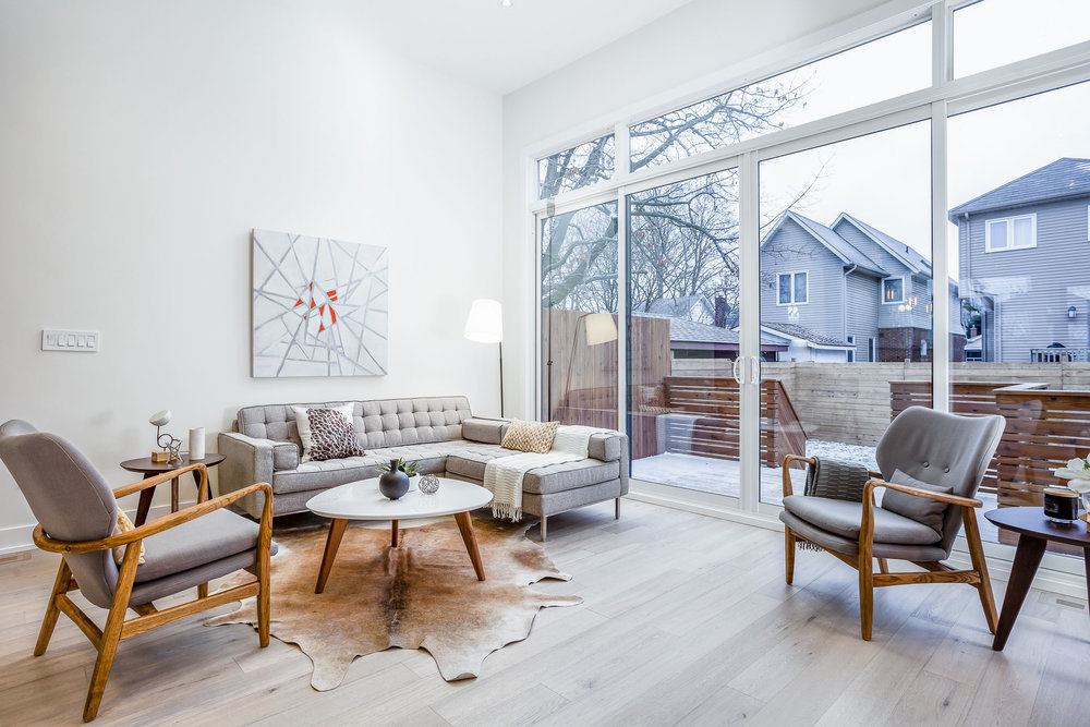 New Home Staging - Living Room