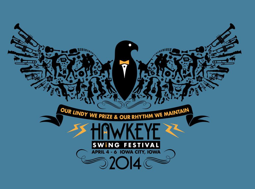 HAWKEYE SWING FESTIVAL T-SHIRT DESIGN