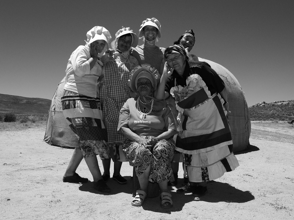 """On Location with Ladies from the Nama Tribe in the North West Corner of South Africa for """"Q-Drum"""" Photo by Tramaine"""