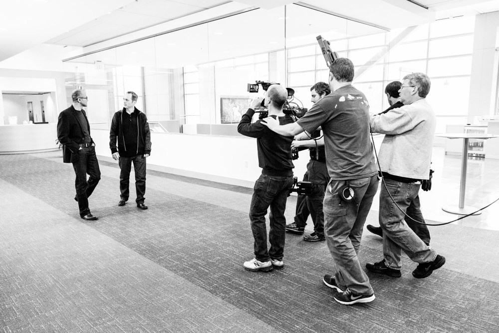 On Location at Microsoft, shooting the New CEO Satya Nadella's first video Photo by John Schoonover