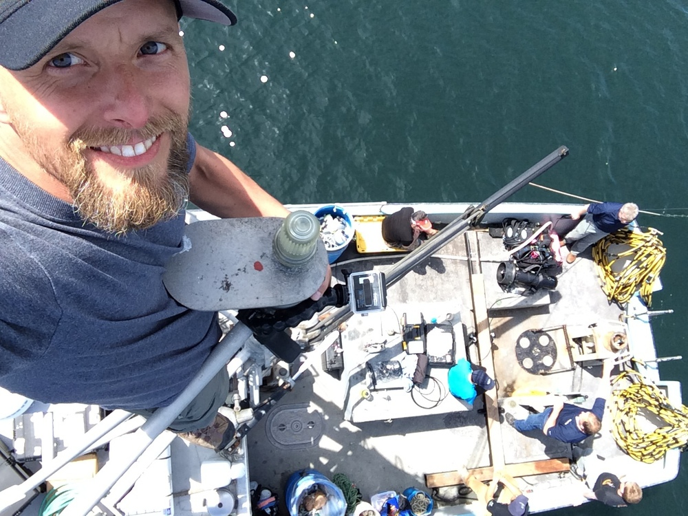 On board a Research Vesselshooting the recovery of 222 year old anchor in the Puget Sound, WA.