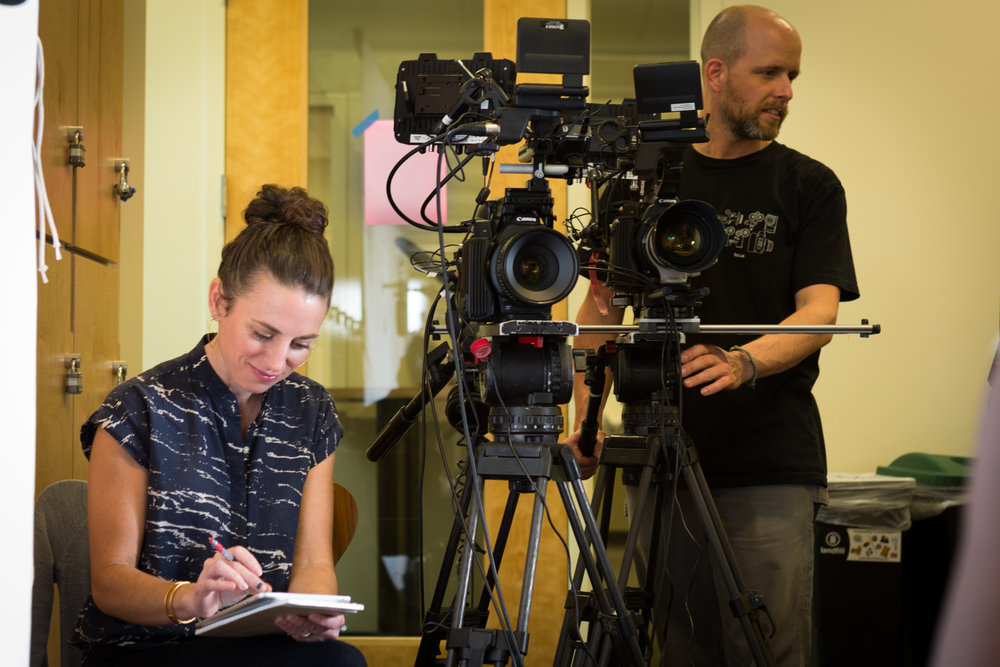 """Co-Director Aimie Vallat and I on set of """"Little Rebel"""", watch it here:  littlerebelfilm.com"""