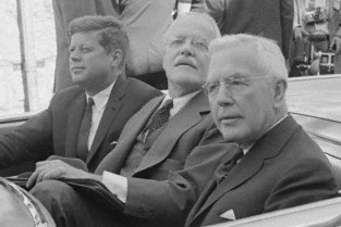 President John F. Kennedy with Allen W. Dulles and John A. McCone