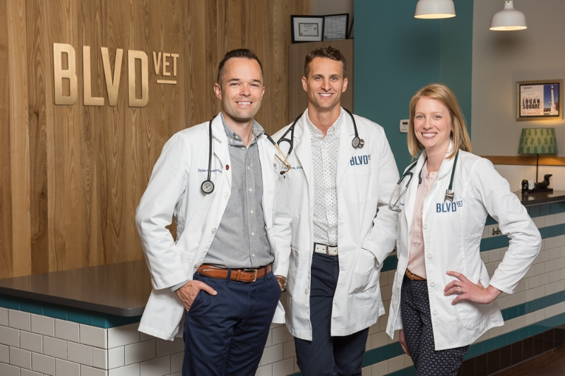 And then, there were three. From left to right: Dr. Dylan, Dr. Williams and Dr. Geisler.