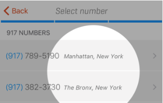 Locations on the number picker