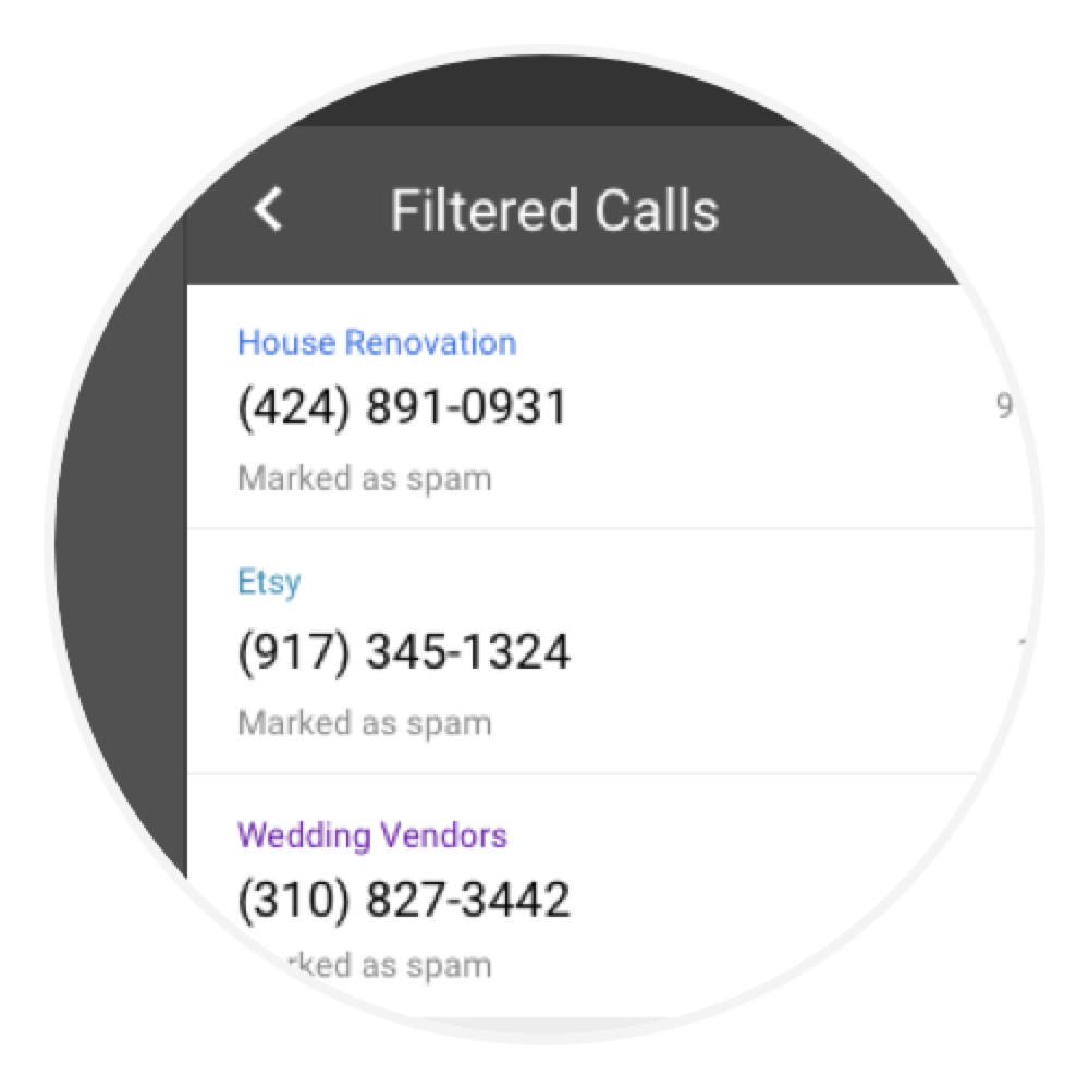 Nomorobo Connection - Automatically filtered calls