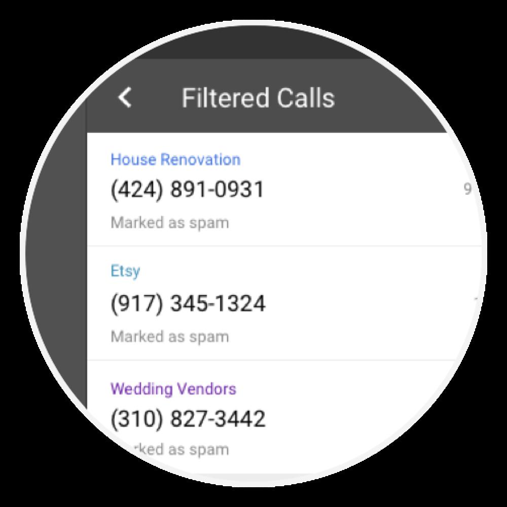 Nomorobo Connection - Automatically filtered calls