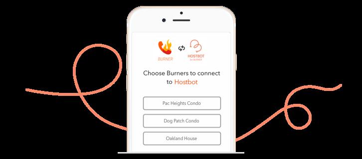 Hostbot, a Burner line for Airbnb, Homeaway, and VRBO hosts