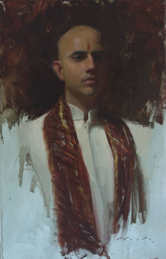 """My Indian Groom""    21 x 32 inches"