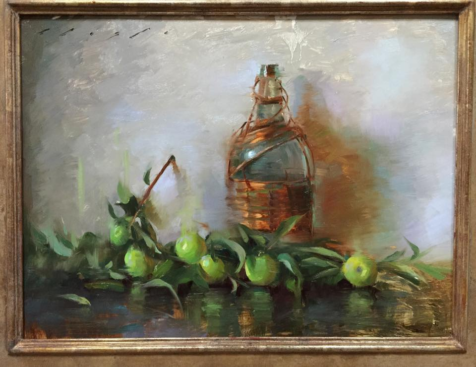 """Apples and Flea Market Find""    18 x 24 inches"