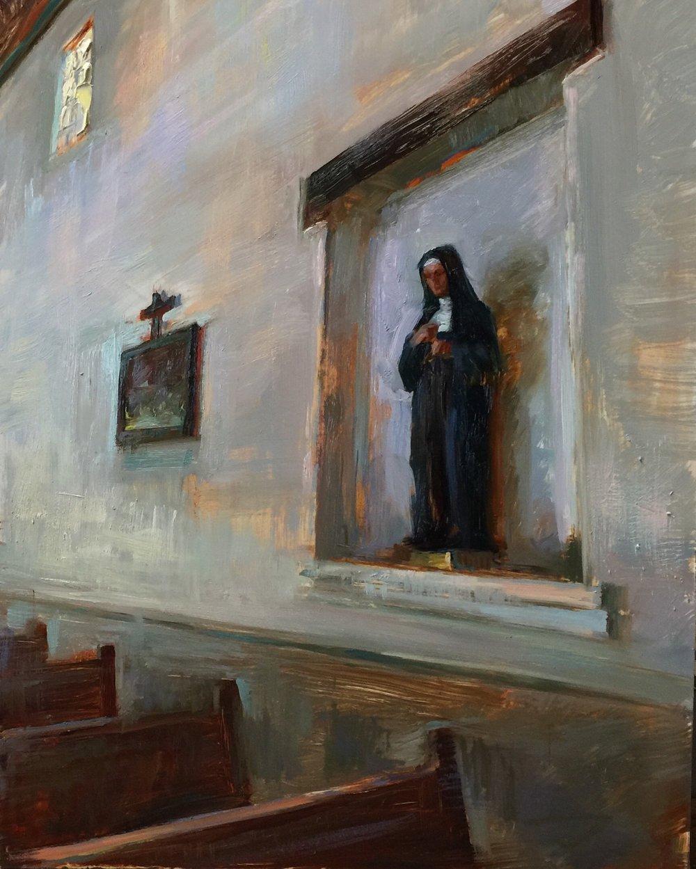 """""""Mission San Luis Obispo""""  12 x 16 inches"""