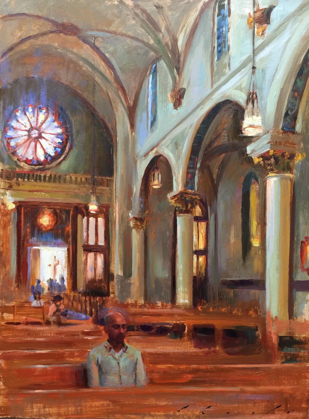 """ Meditation Amongst the Pillars of St. Francis de Assisi""  18x24 inches"