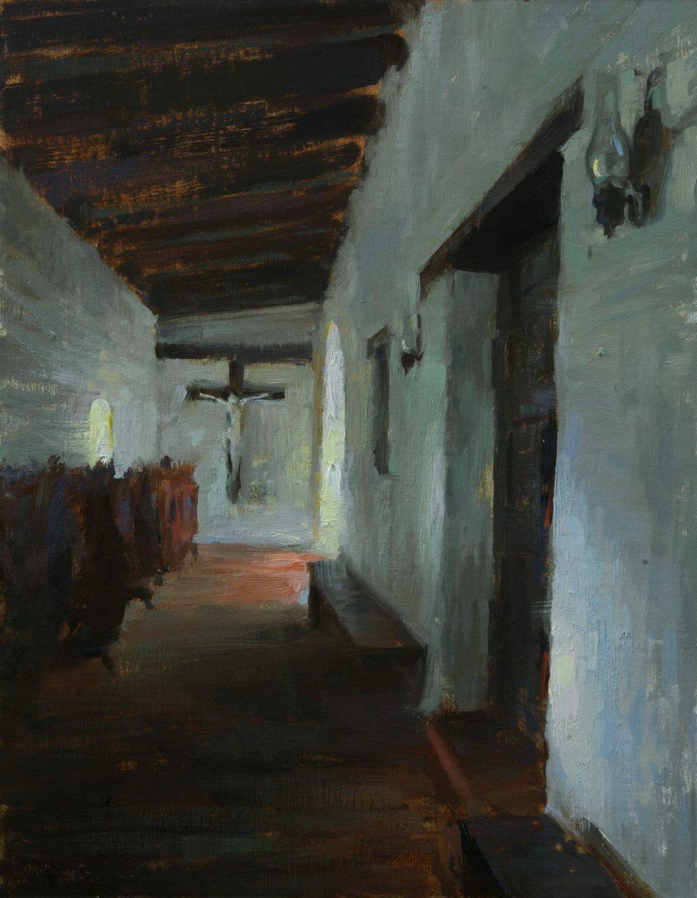 """""""Study of Mission de Alcala""""  11 x 14 inches"""