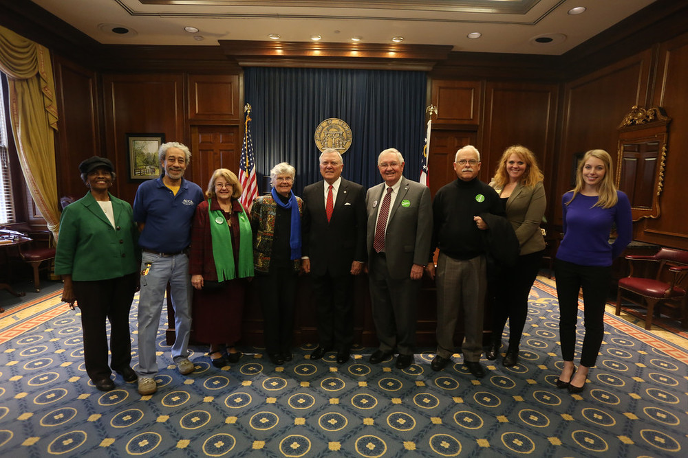 governor deal with advocates from athens, 2015
