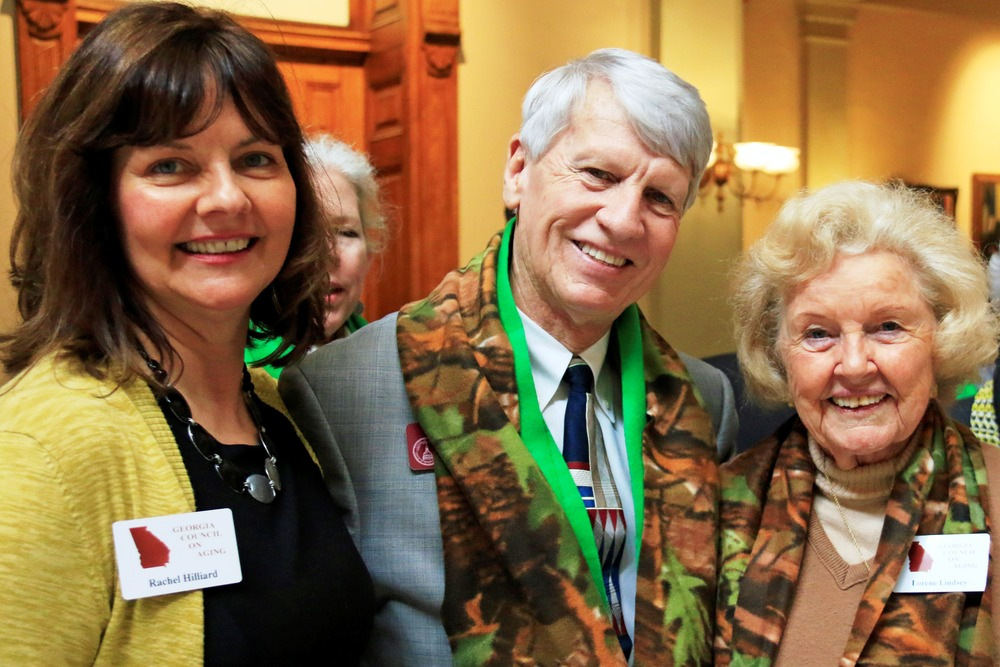 Council members Rachel hilliard and Lorene lindsey with Rep. jimmy pruett