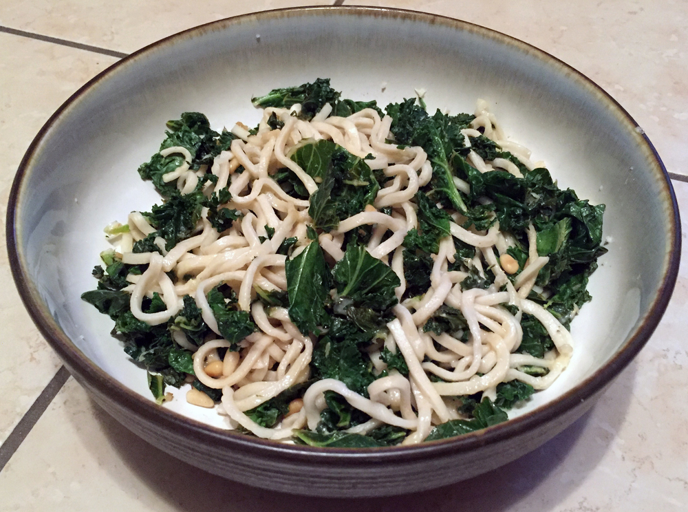 Linguine with Garlic Fried Kale - Meal 3 Finish.JPG