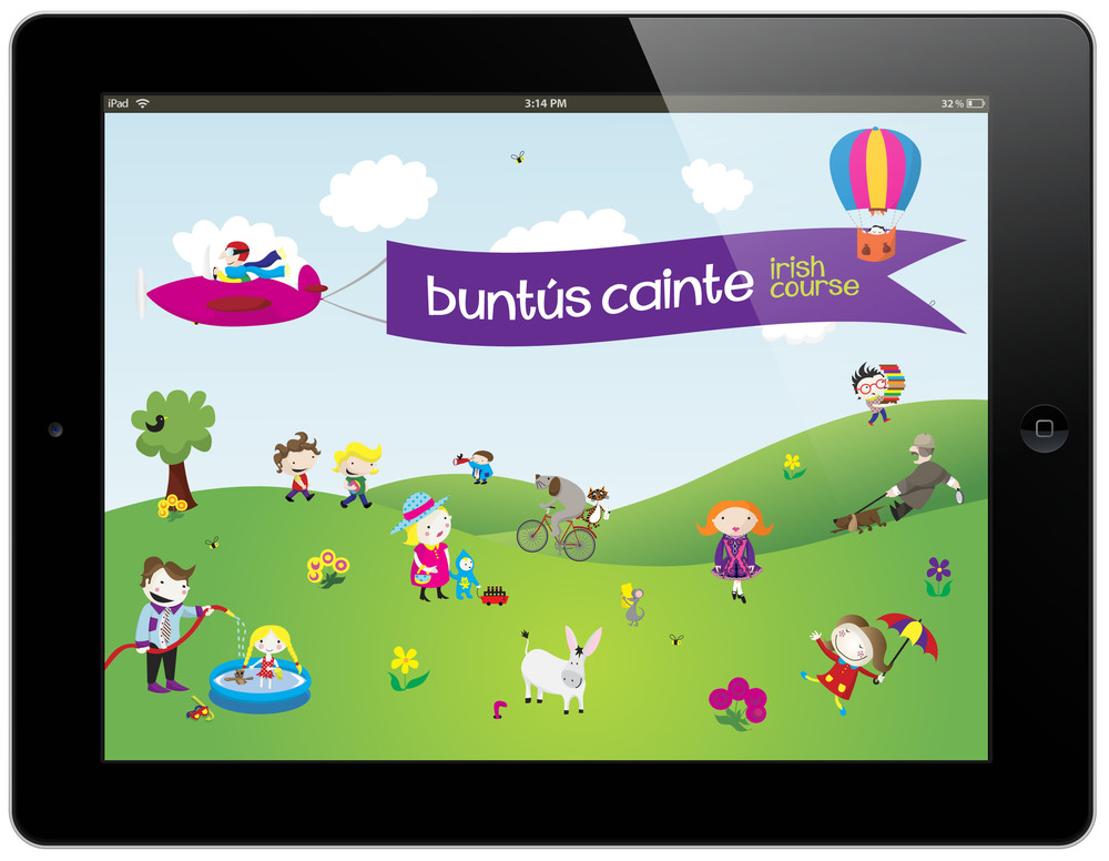 Buntus Cainte iPad App Launch Screen