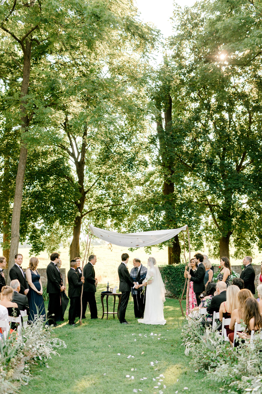Hotel du Village Ceremony New Hope PA Jewish Weddings Chuppah