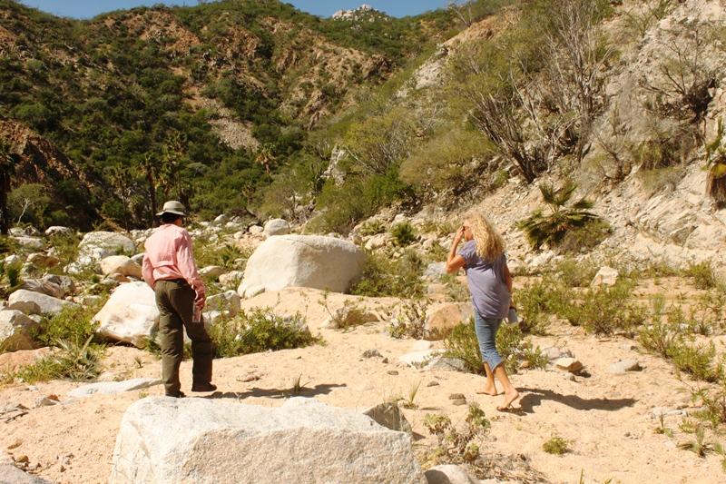 Caminando por el arroyo Canoas en Rancho Cacachilas