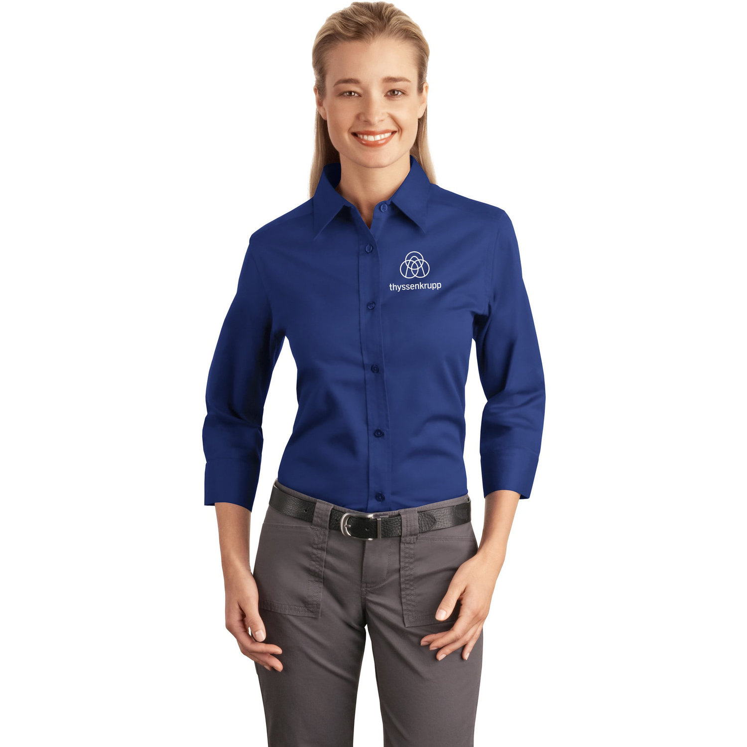 a5b9db407 Port Authority® Ladies 3/4-Sleeve Easy Care Shirt | L612 ...