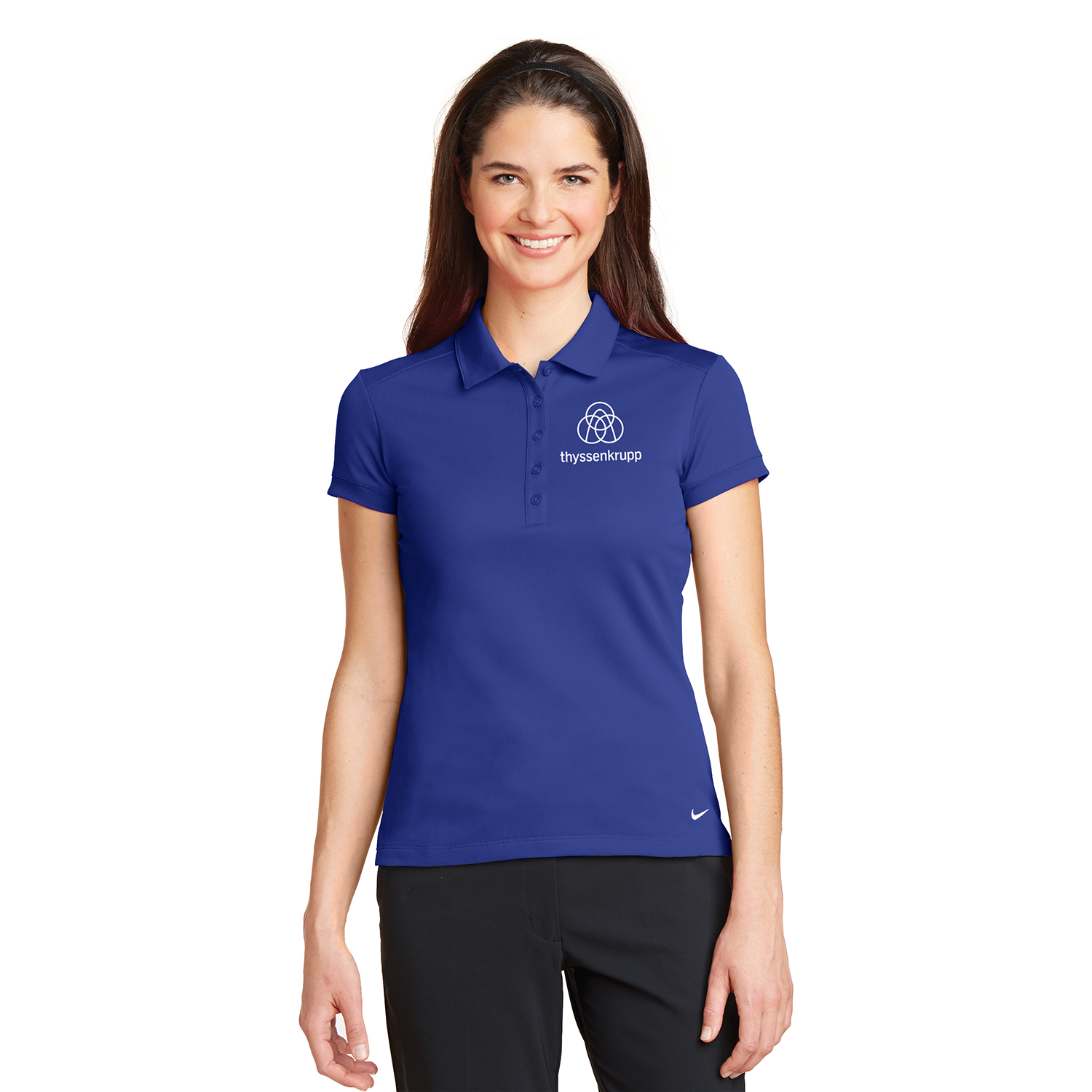 Ladies Nike Golf Dri Fit Solid Icon Pique Modern Fit Polo 746100