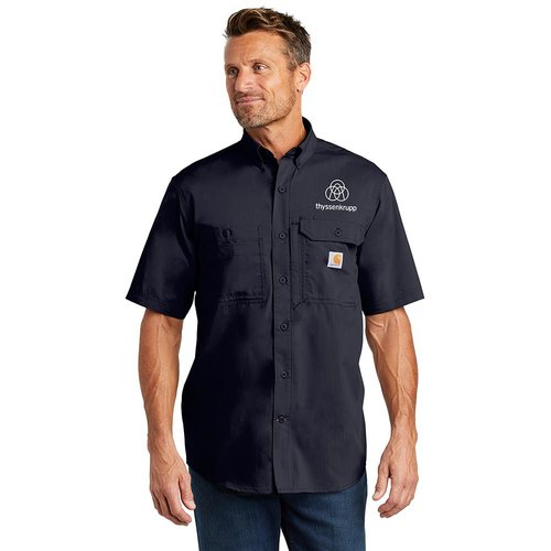 247808064d Carhartt Force ® Ridgefield Solid Short Sleeve Shirt. CT102417.