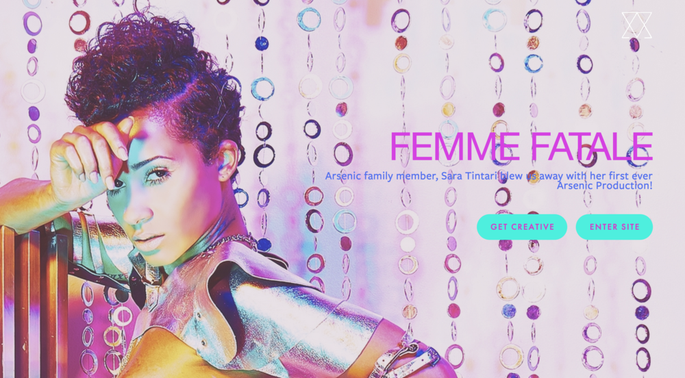 "Arsenic Magazine Cover Feature: ""Femme Fatale"""