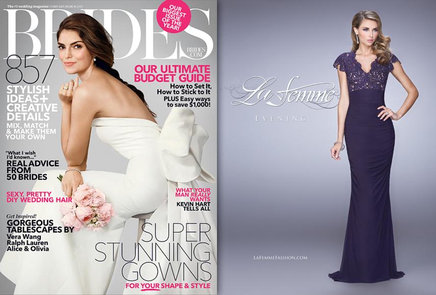 """Brides Magazine: March 2015 """"La Femme"""""""