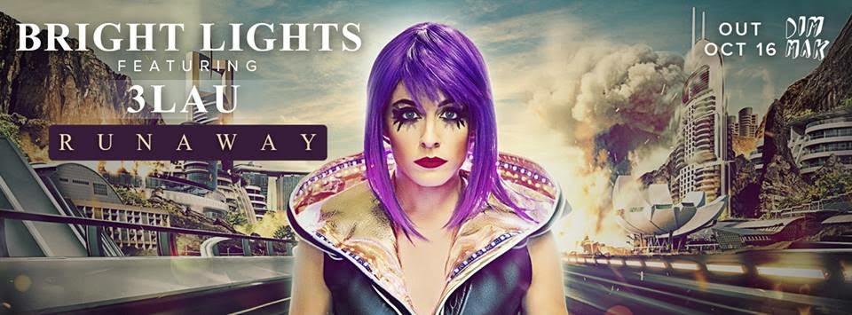 """Bright Lights feat. 3lau debut Single """"Runaway"""" (cover art)"""