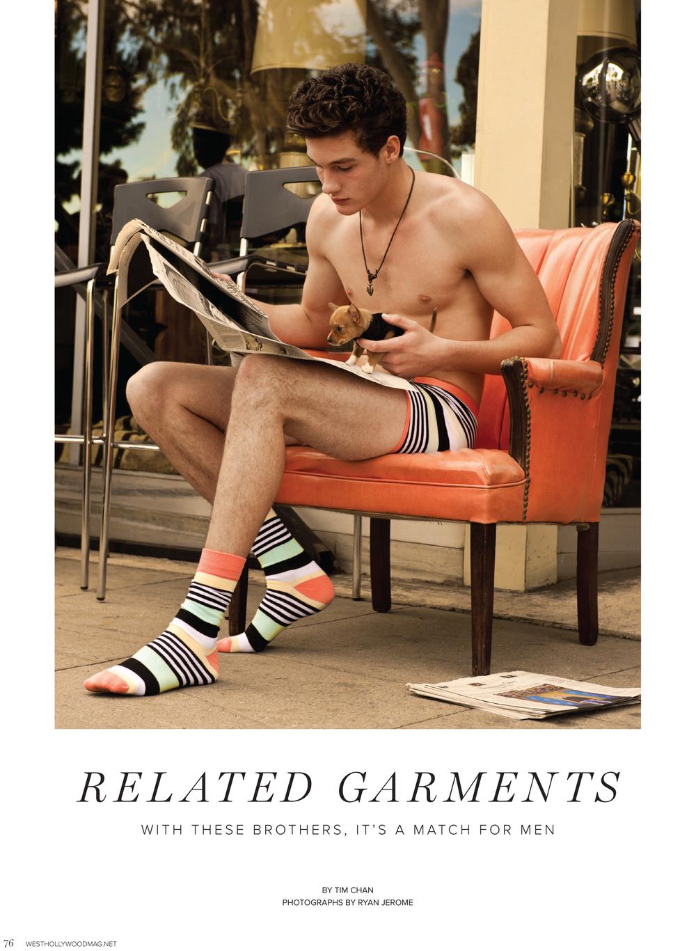 "West Hollywood Magazine: ""Related Garments"""