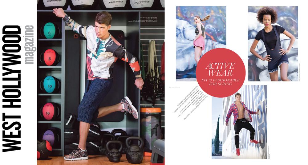 """West Hollywood Magazine: """"Activewear"""""""