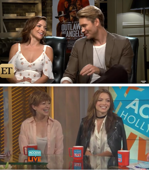 PRESS JUNKET: ACCESS HOLLYWOOD, CNN LIVE & ETONLINE INTERVIEWS WITH FRANCESCA EASTWOOD & CHAD MICHAEL MURRAY