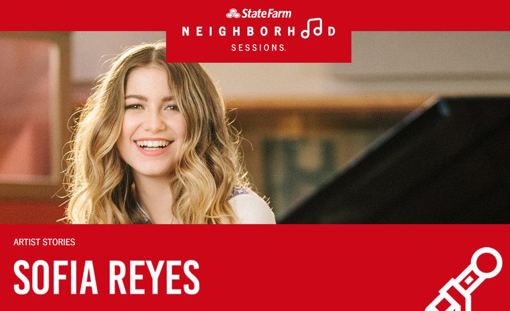 Sofia Reyes StateFarm Neighborhood Sessions