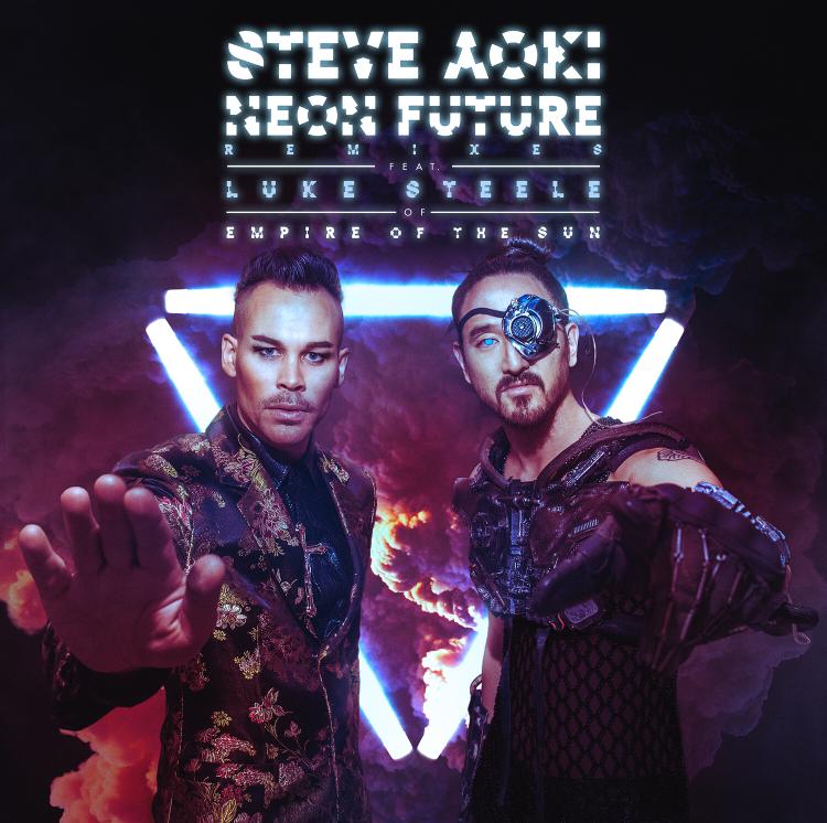 "Steve Aoki feat. Luke Steel: ""Neon Future"""