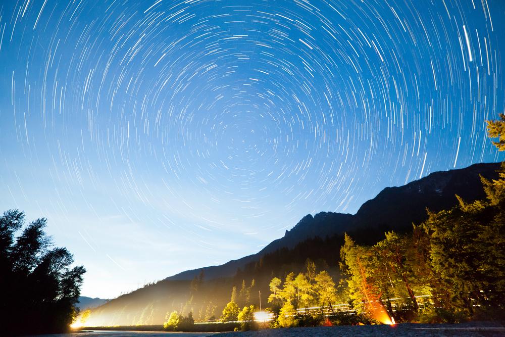 Dusk Star Trail
