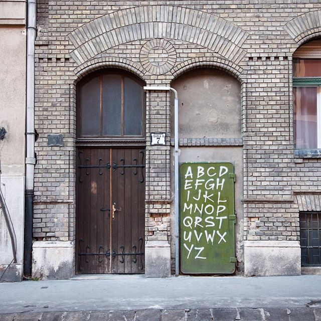 Educational door #alphabet #doors #streetphotography #thisisbudapest