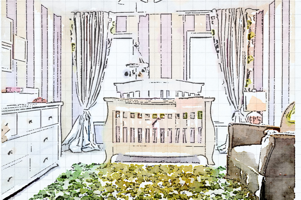 Waterlogue Nursery designed by Kimberly and Cameron Interiors
