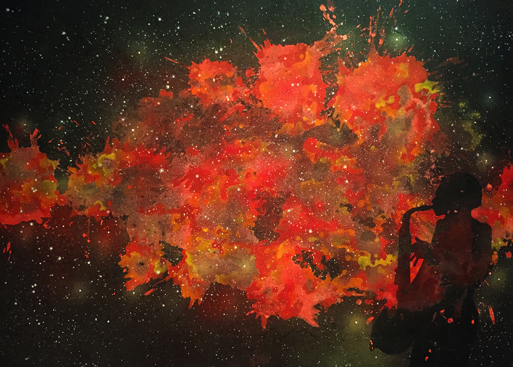 A piece from Cosmos Series by Mark Steven Greenfield courtesy of CAAM