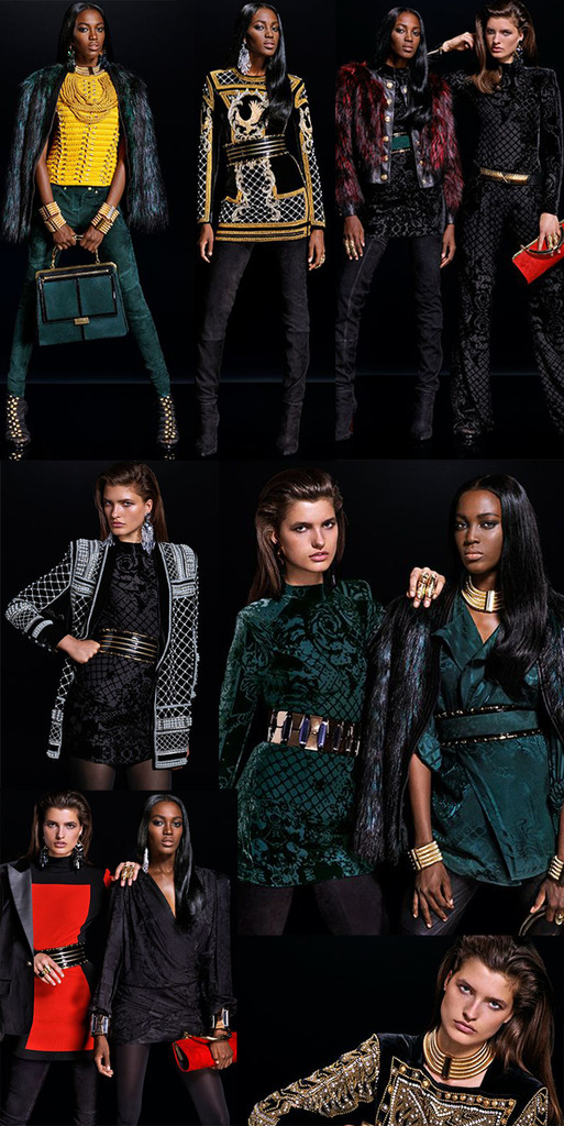 Balmain x H&M Lookbook