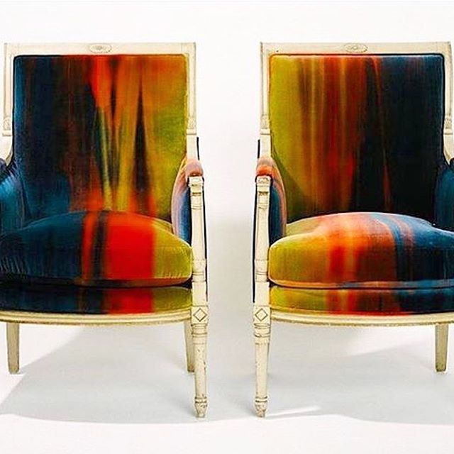 @theeventmaker can't wait to see the space! Do we need to vote? You win on mood board alone! #Repost @theeventmaker ・・・ Want to know a secret? The inspiration to throw my whole living room away and start over was catapulted when I fell and hit my head HARD after seeing these #vintage bergère chairs upholstered in the more ridiculously good and not to mention hard to source fabric ever! This fabric is so ME, I just want to lick it. Maybe I'll share how I solved the dilemma of getting my hands on some of this fabulous velvet for the living room design plan for the #oneroomchallenge on the blog this week... I know, I know they made you do a double take too. You can admit it. 😉