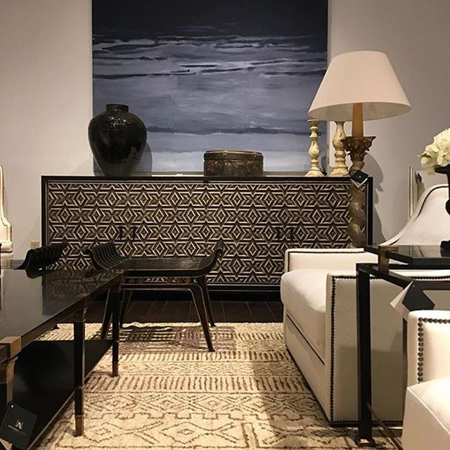#Repost @eclectichomenola ・・・ Absolutely beautiful!!! I mean this showroom vignette is 👍🏽👍🏽So much texture and impeccable craftsmanship! Several pieces shown are on their way to us @eclectichomenola #casegoods #hpmkt #woodwork #upholstery #interiors #shopaholic #magical #transitionaldesign #neutrals #BIDN2017