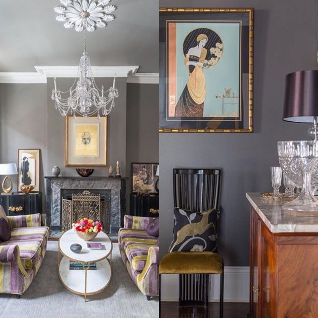 Love the colors @eclectichomenola! #Repost @eclectichomenola ・・・ #tbt to this Creole Cottage renovation. Located in the French Quarter, this 100+ year old home showcases our clients love for French antiques as well as deco influenced accent pieces and Asian art. All three styles work amazing together! This project still remains to be one of our favorites! #portfolio #interiordesign #nola #frenchquarter #schumacher #deco #vintage #highgloss #benjaminmoore #interiors #bold #velvets #stripes #pattern #gold #gilded #custom #eclectic #myiconichome