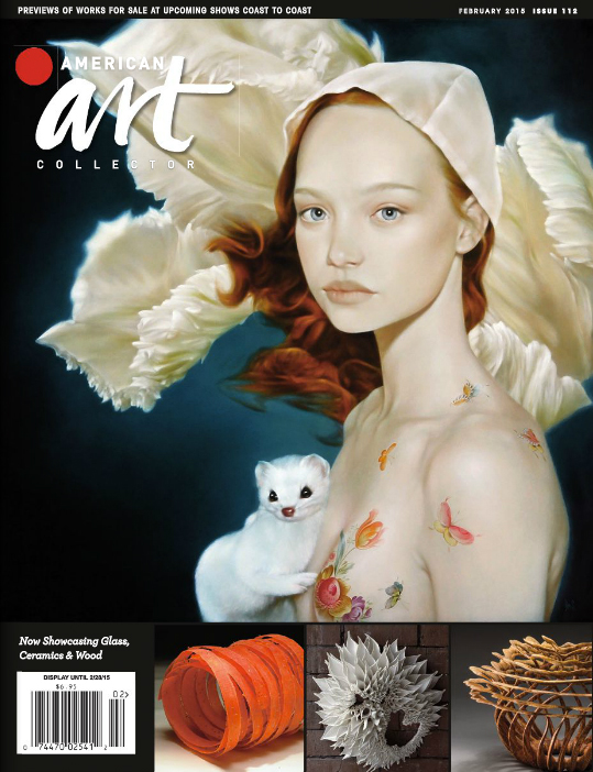 American Art Collector , February 2015, Issue 112  Subscription required to read the article. Preview images of the article are available below.