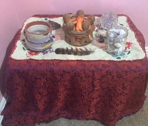 My little altar where I meditate and find inspiration every morning.