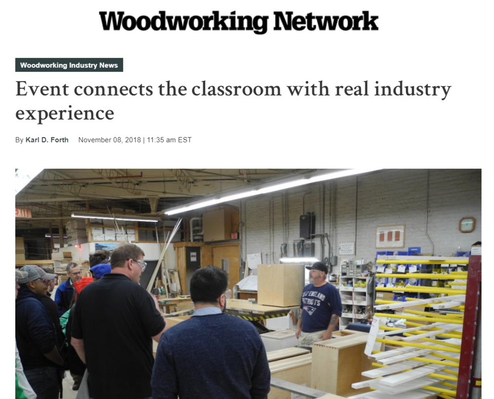 November 5, 2018 Manufacturing Open House Co-Sponsored by Skills for RI's Future, The Wood Machinery Industry Association and Herrick & White Architectural Woodworkers
