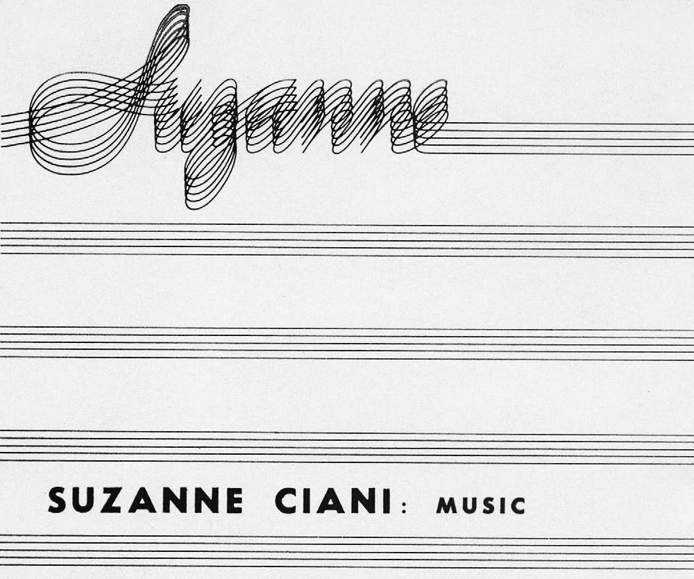 For the main title, I was inspired by one of Suzanne's early logos. I wanted to use a multi-line font to allude to sheet music, sound waves, as well as wires and patch cables.